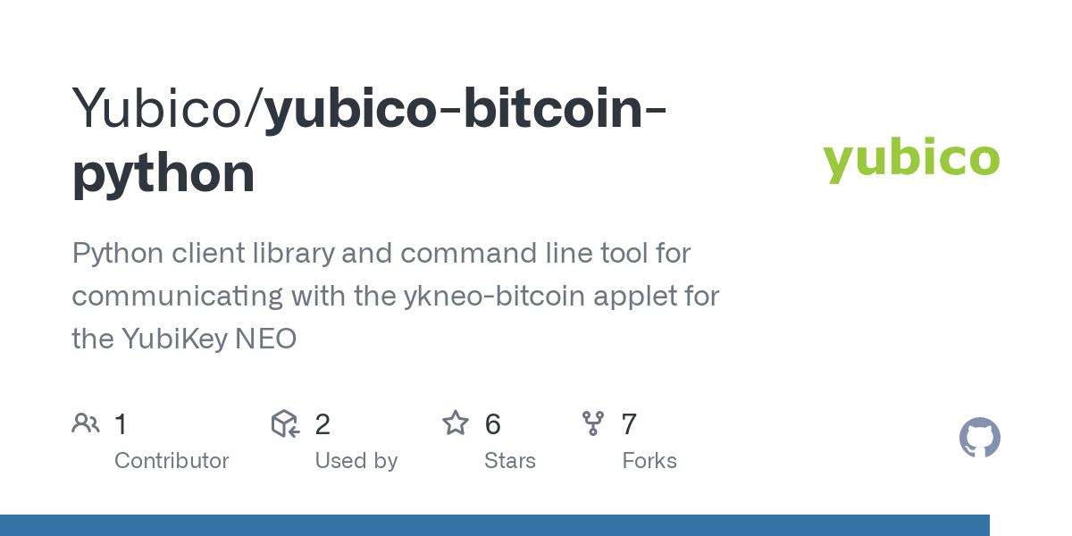 yubikey bitcoin
