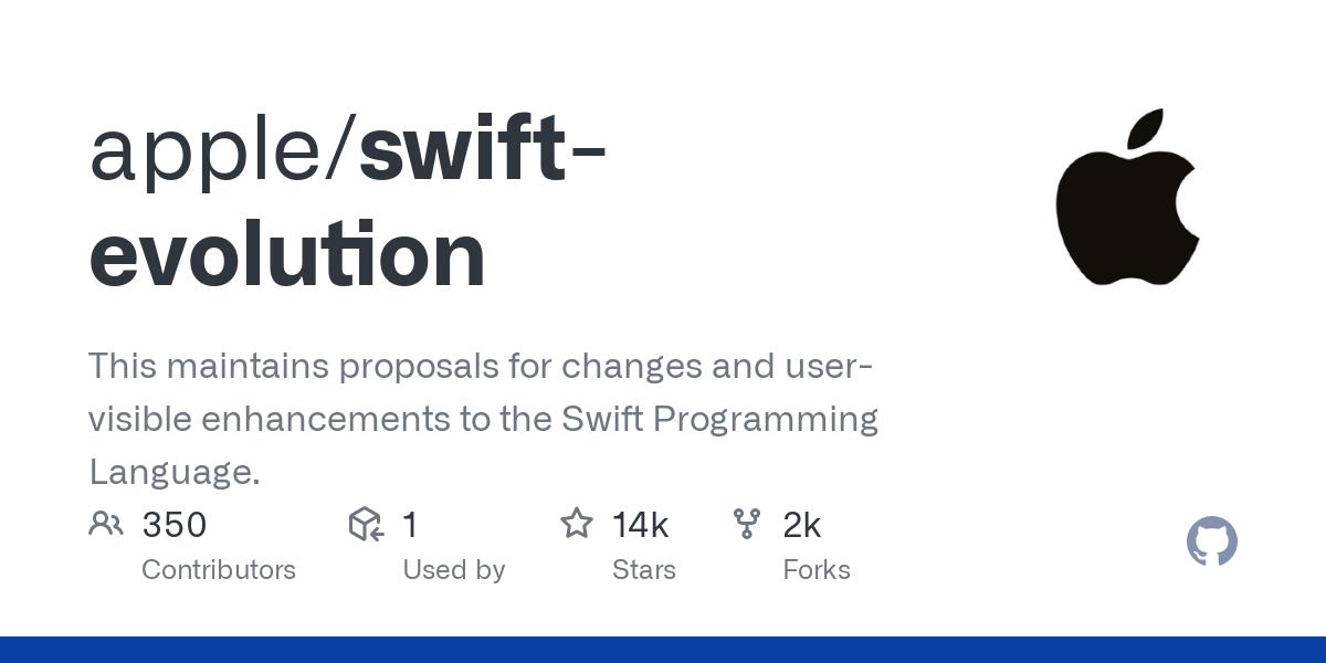 apple/swift-evolution