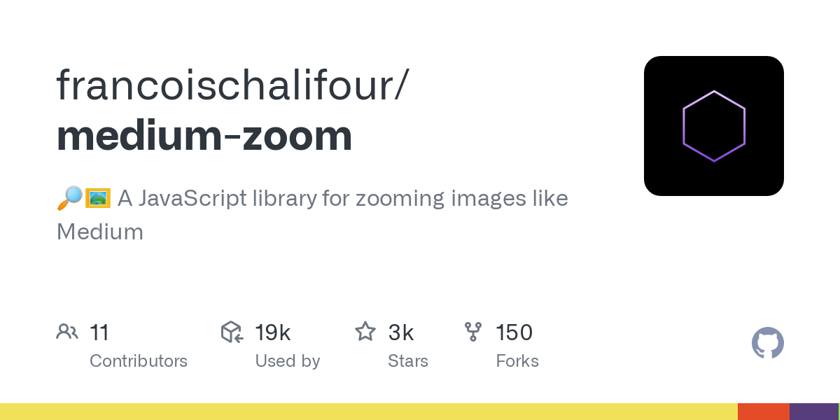 GitHub - francoischalifour/medium-zoom: 🔎🖼 A JavaScript library for zooming images like Medium-image