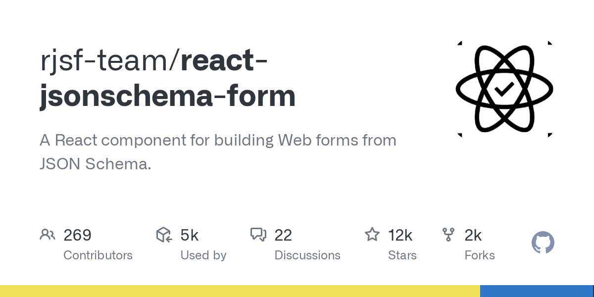 GitHub - rjsf-team/react-jsonschema-form: A React component for building Web forms from JSON Schema.