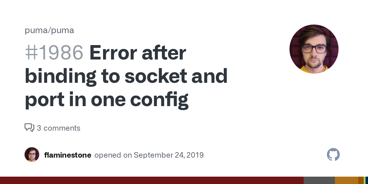 Error after binding to socket and port in one config · Issue #1986 ...