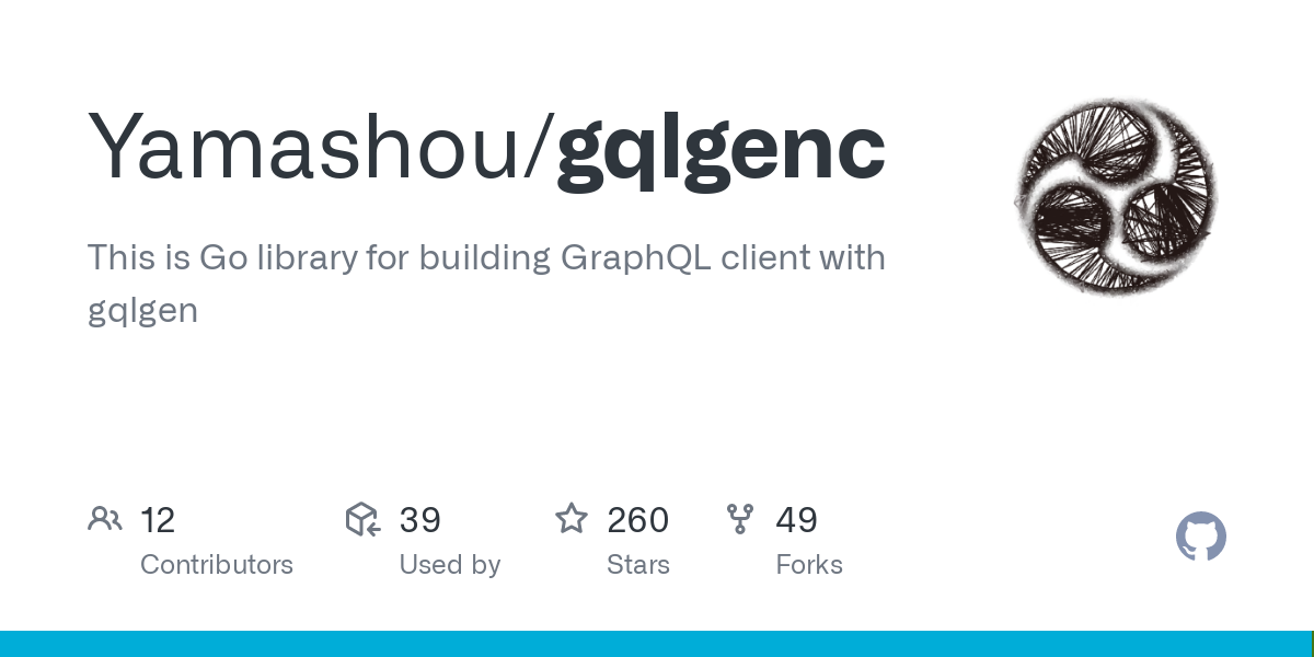 GitHub - Yamashou/gqlgenc: This is Go library for building GraphQL client with gqlgen