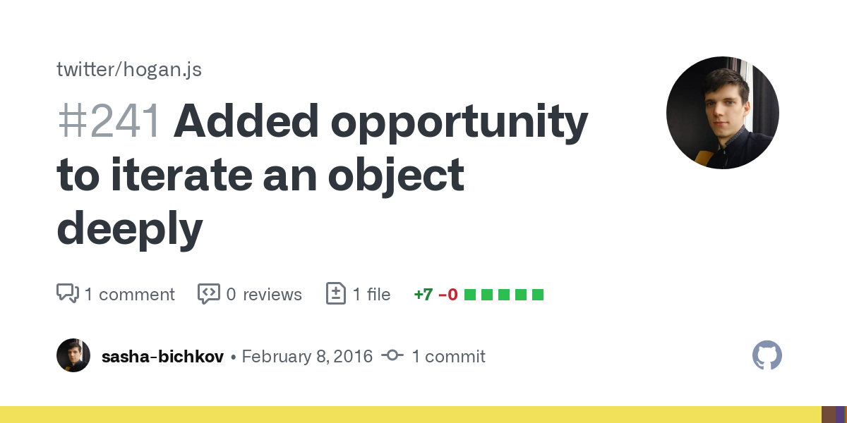 Added opportunity to iterate an object deeply by sasha-bichkov ...