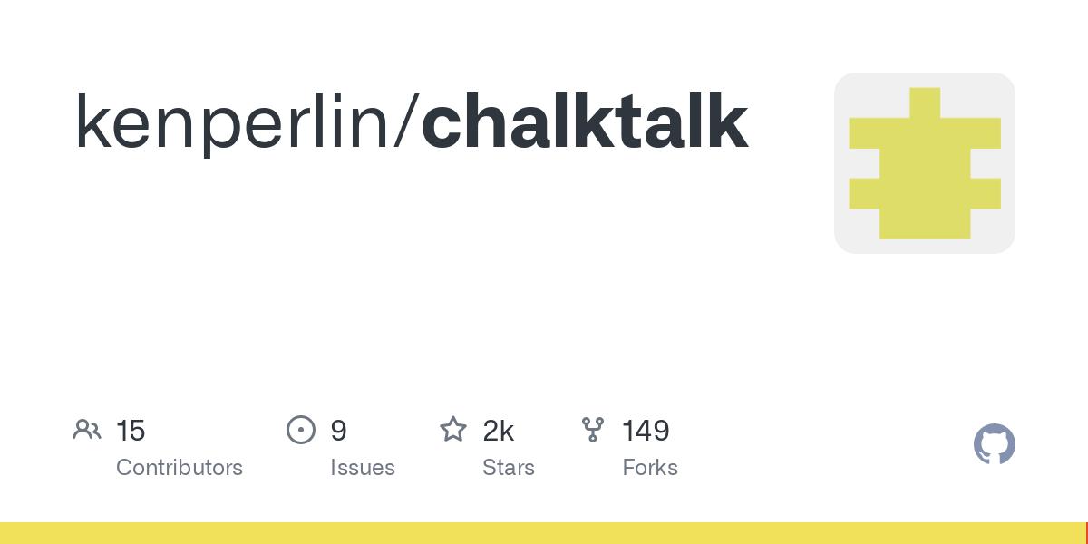 GitHub - kenperlin/chalktalk