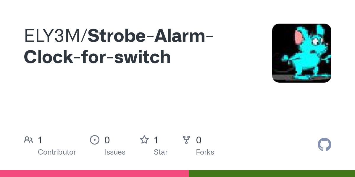 Github Ely3m Strobe Alarm Clock For