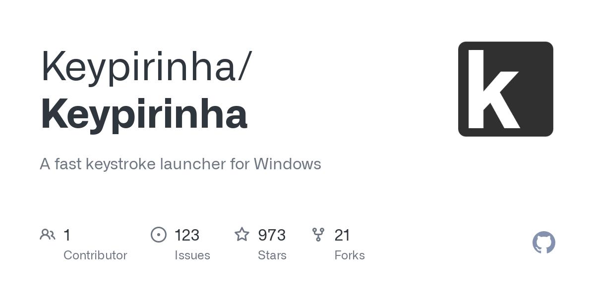 GitHub - Keypirinha/Keypirinha: A fast keystroke launcher ...