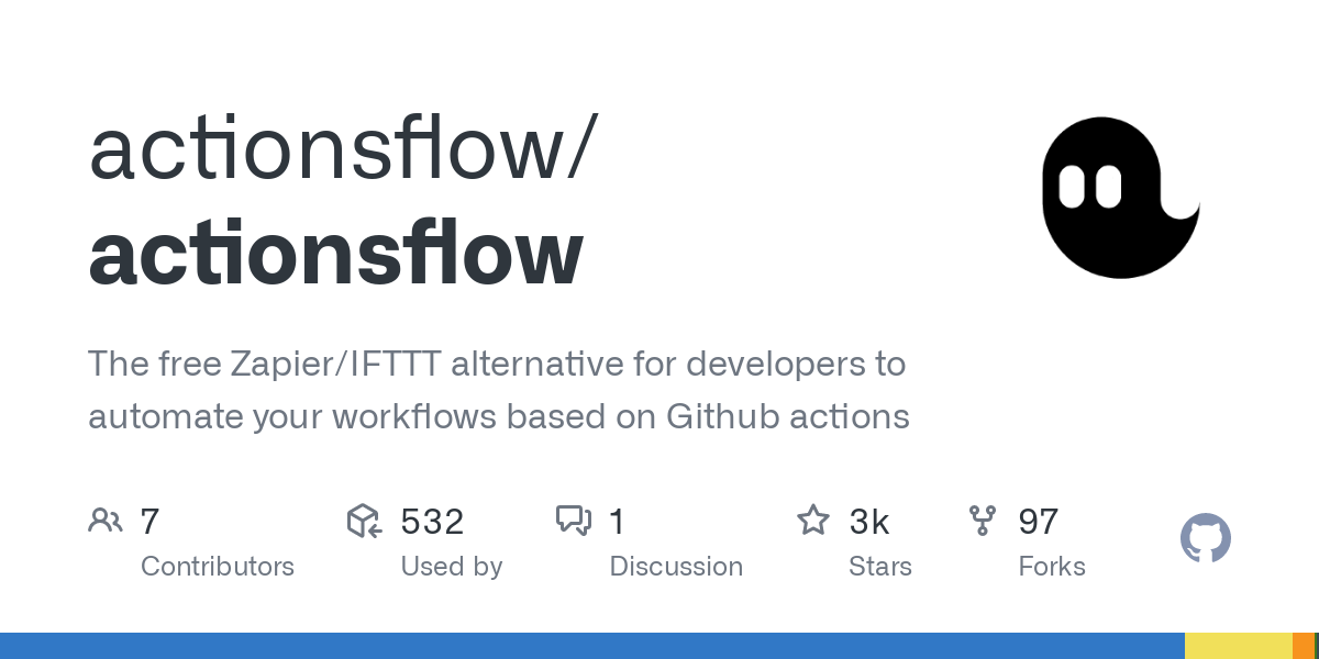 GitHub - actionsflow/actionsflow: The free Zapier/IFTTT alternative for developers to automate your workflows based on Github actions