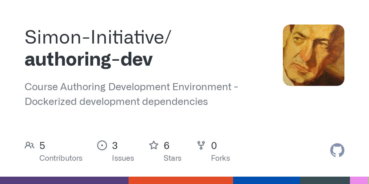 GitHub - Simon-Initiative/authoring-dev: Course Authoring Development Environment - Dockerized development dependencies