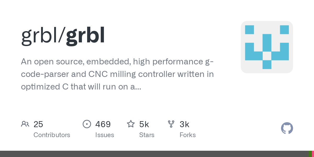 Grbl is a no-compromise, high performance, low cost alternative to parallel-port-based motion control for CNC milling. It will run on a vanilla Arduin