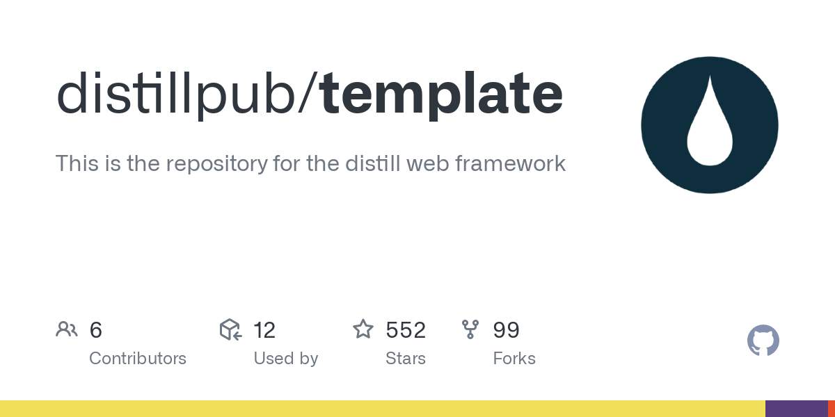 GitHub - distillpub/template: This is the repository for the distill web framework