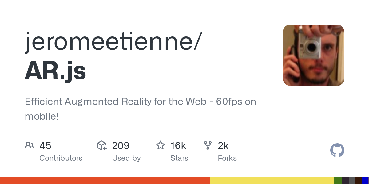 GitHub - jeromeetienne/AR.js: Efficient Augmented Reality for the Web - 60fps on mobile!