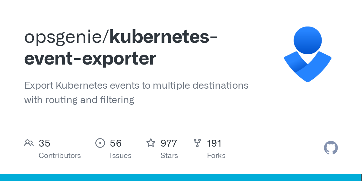 This tool allows exporting the often missed Kubernetes events to various outputs so that they can be used for observability or alerting purposes. You