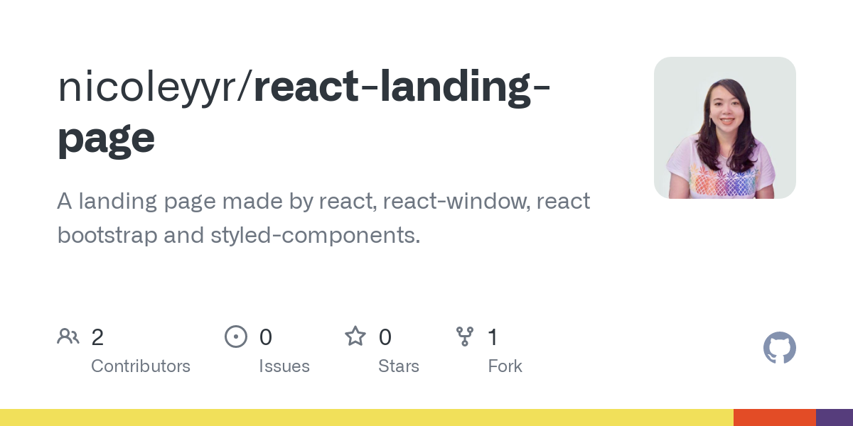 React Bootstrap Landing Page