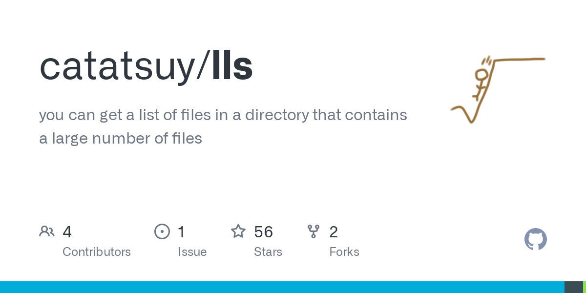GitHub - catatsuy/lls: you can get a list of files in a directory that contains a large number of fi...
