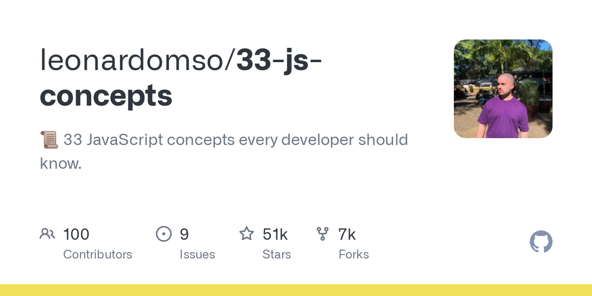 33 Concepts Every JavaScript Developer Should Know