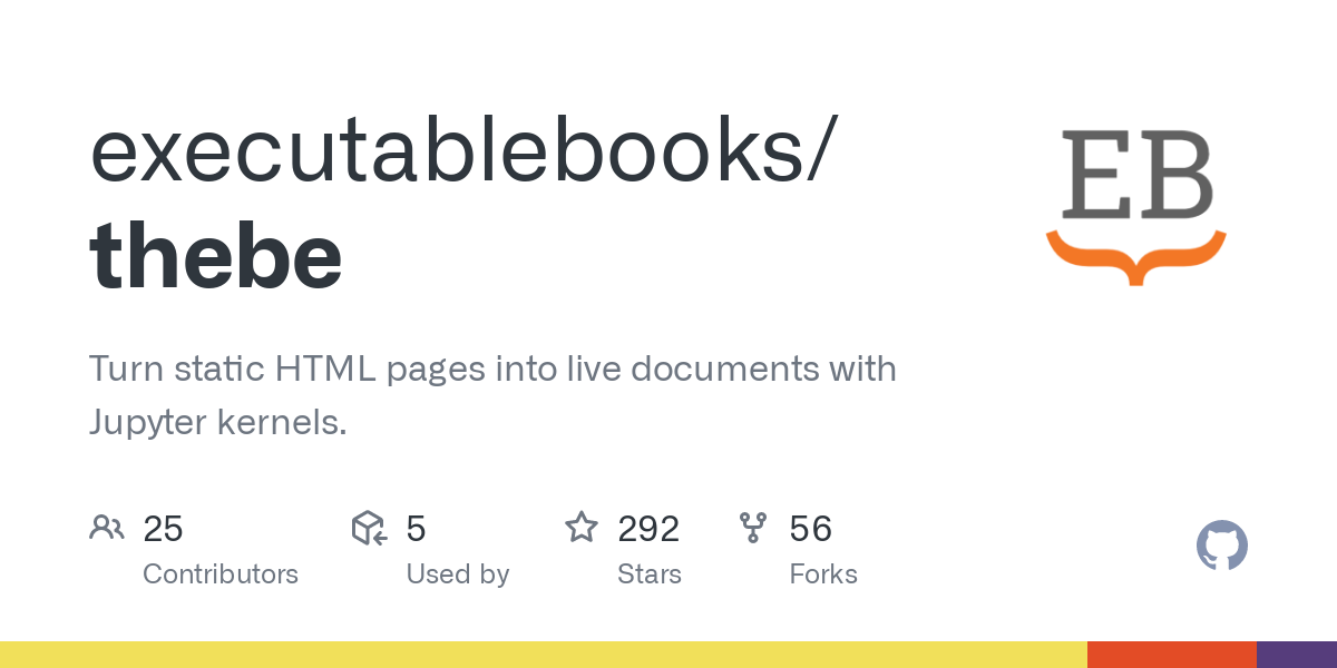 GitHub - executablebooks/thebe: ThebeLab: turning static HTML pages into live documents
