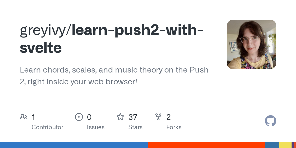 Learn chords, scales, and music theory on the Push 2, right inside your web browser! This started as a project to test out Svelte but it turns out it'