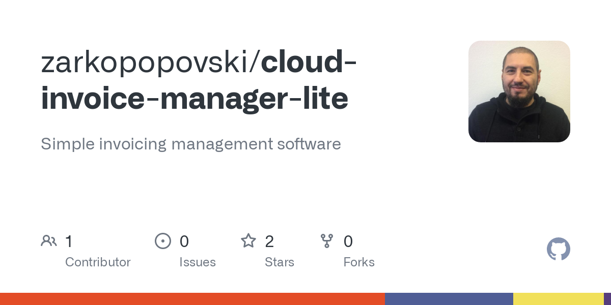 Github Zarkopopovski Cloud Invoice Manager Lite Simple Invoicing Management Software