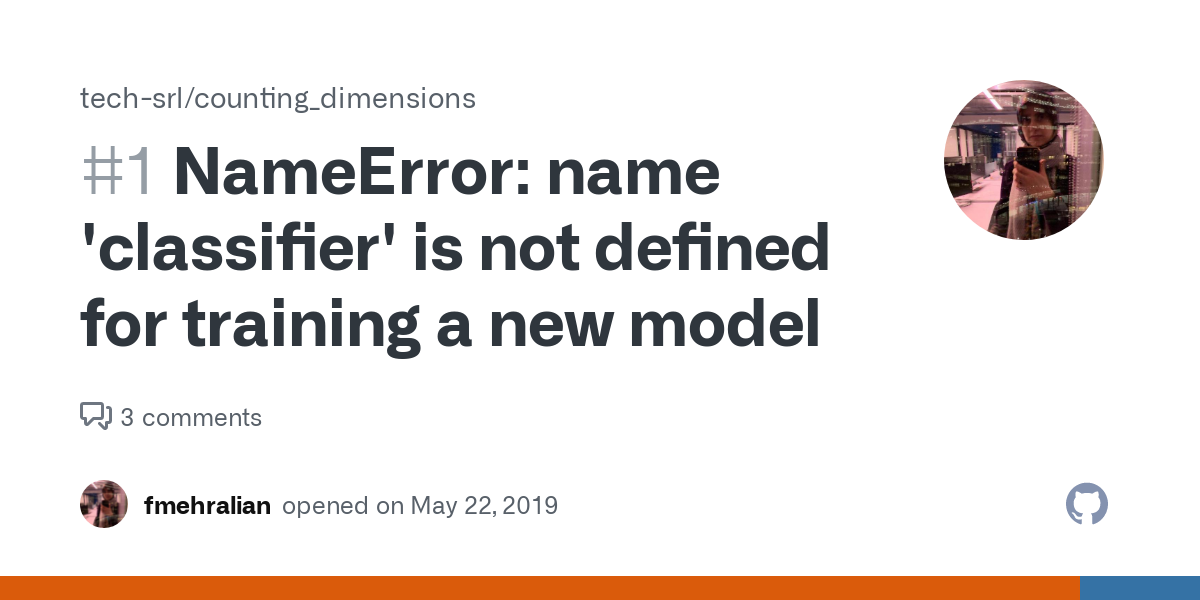 NameError: name 'classifier' is not defined for training a