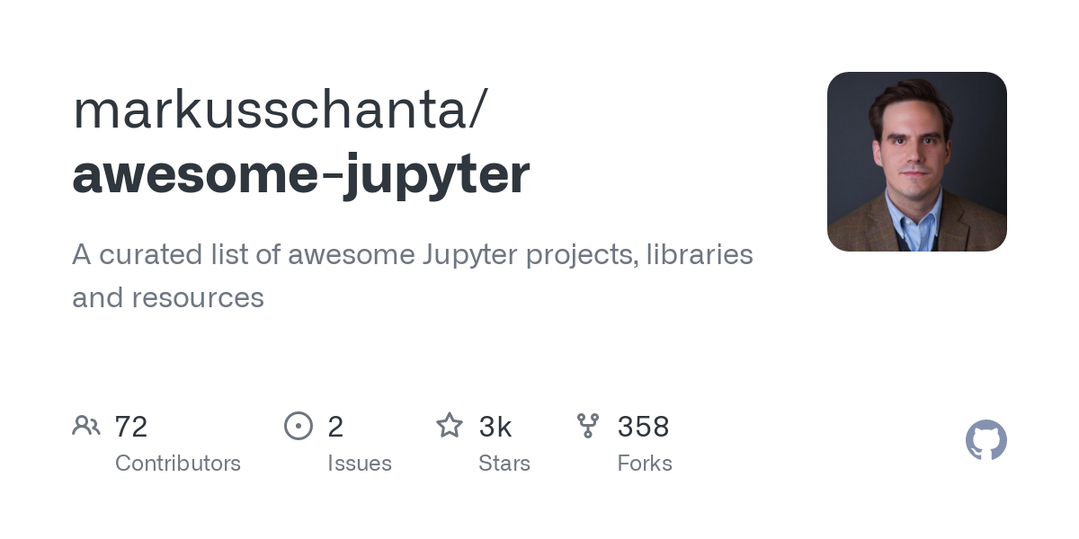 GitHub - markusschanta/awesome-jupyter: A curated list of awesome Jupyter projects, libraries and resources