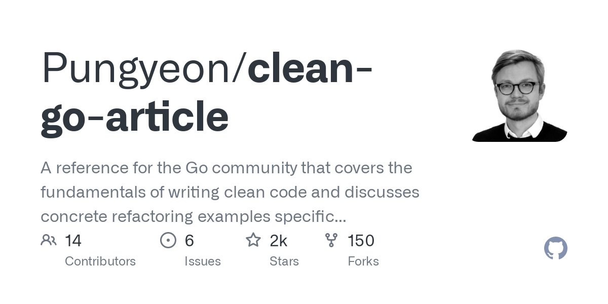 github repository cover: Pungyeon/clean-go-article