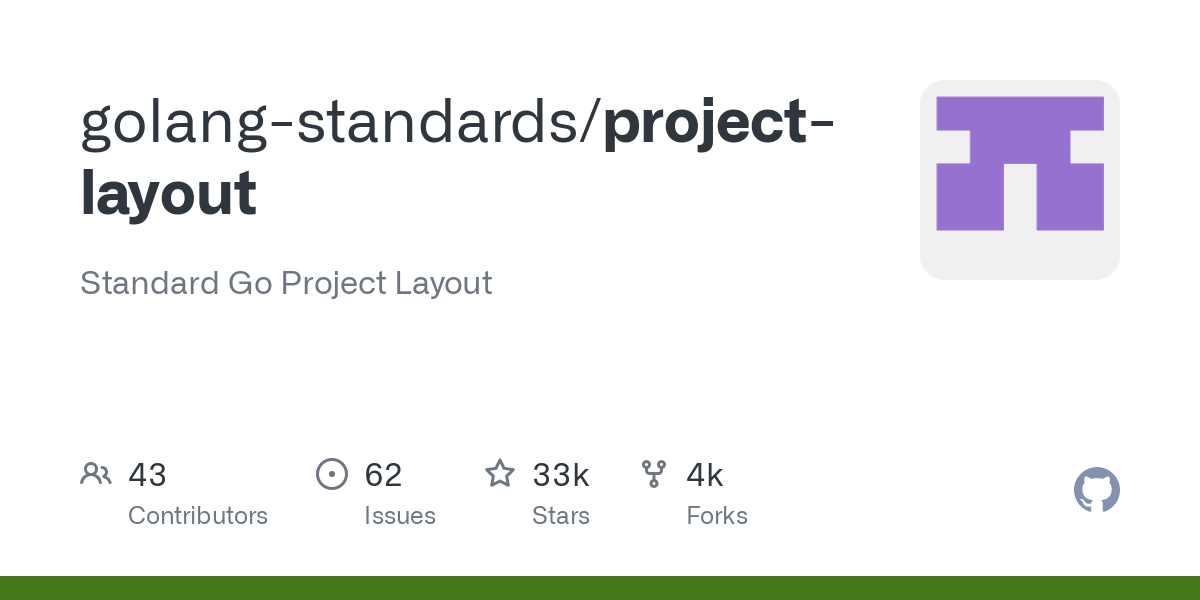 github repository cover: golang-standards/project-layout