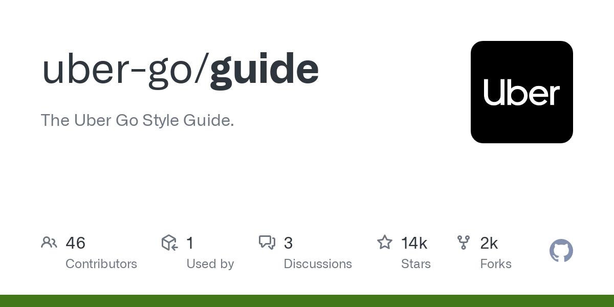 github repository cover: uber-go/guide