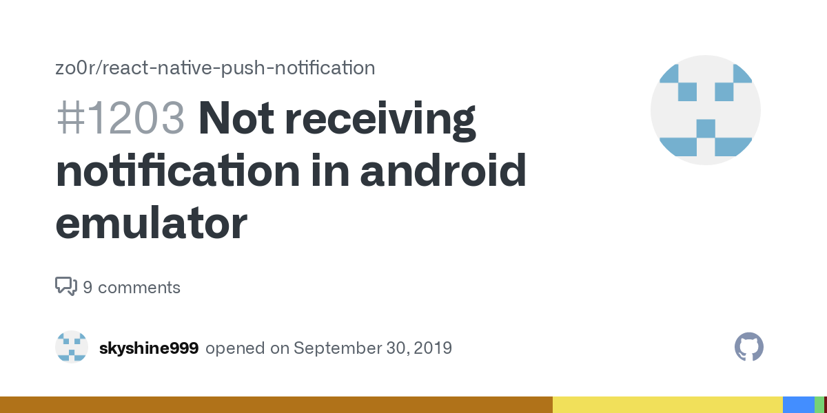 Emulator push notifications android Android Push