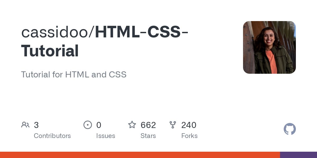 cassidoo/HTML-CSS-Tutorial: Tutorial for HTML and CSS
