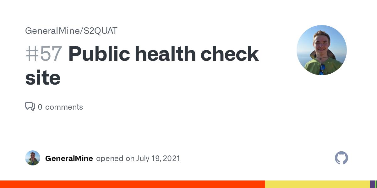Public health check site · Issue #57 · GeneralMine/S2QUAT ...