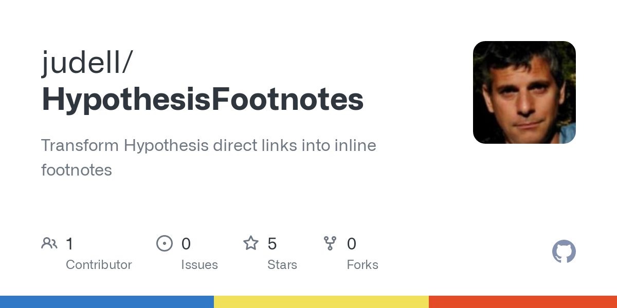 GitHub - judell/HypothesisFootnotes: Transform Hypothesis direct links into inline footnotes