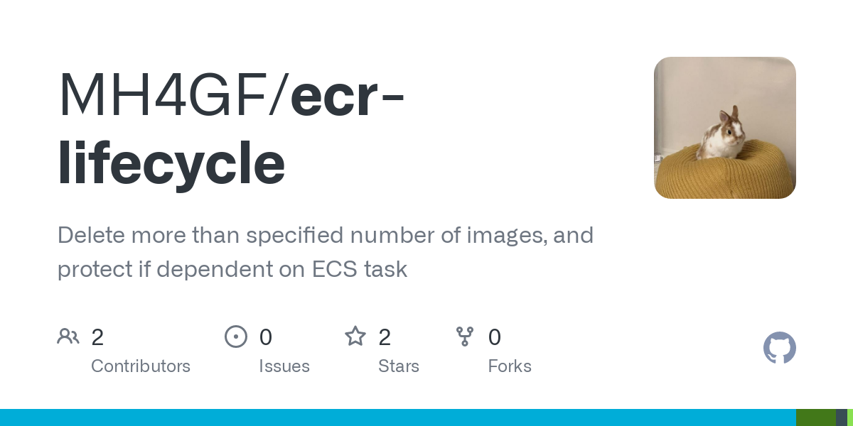 GitHub - MH4GF/ecr-lifecycle: Delete more than specified number of images, and protect if dependent on ECS task