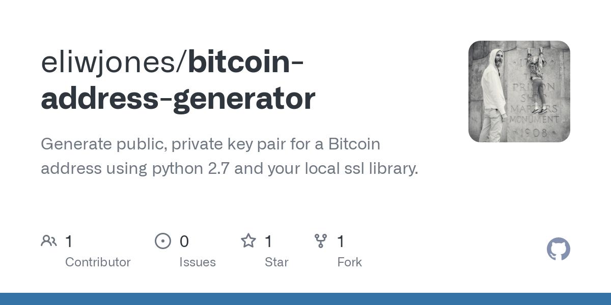 bitcoin adresas generatorius python