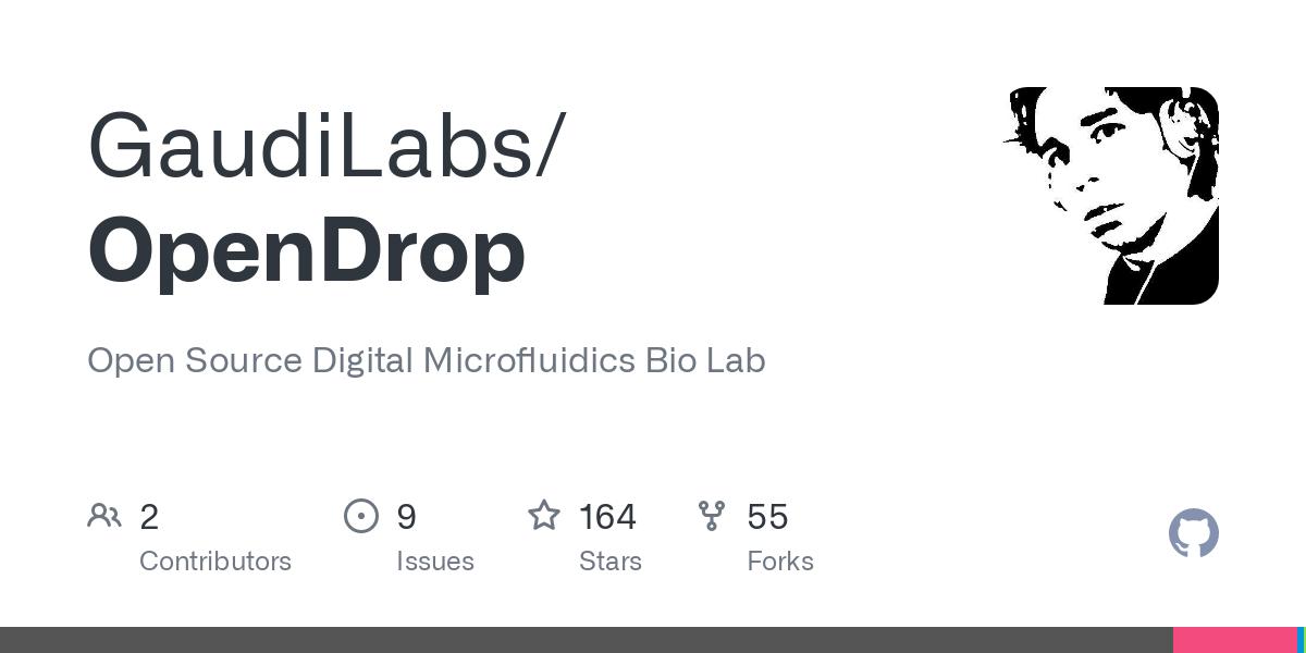 GitHub - GaudiLabs/OpenDrop: Open Source Digital Microfluidics Bio Lab
