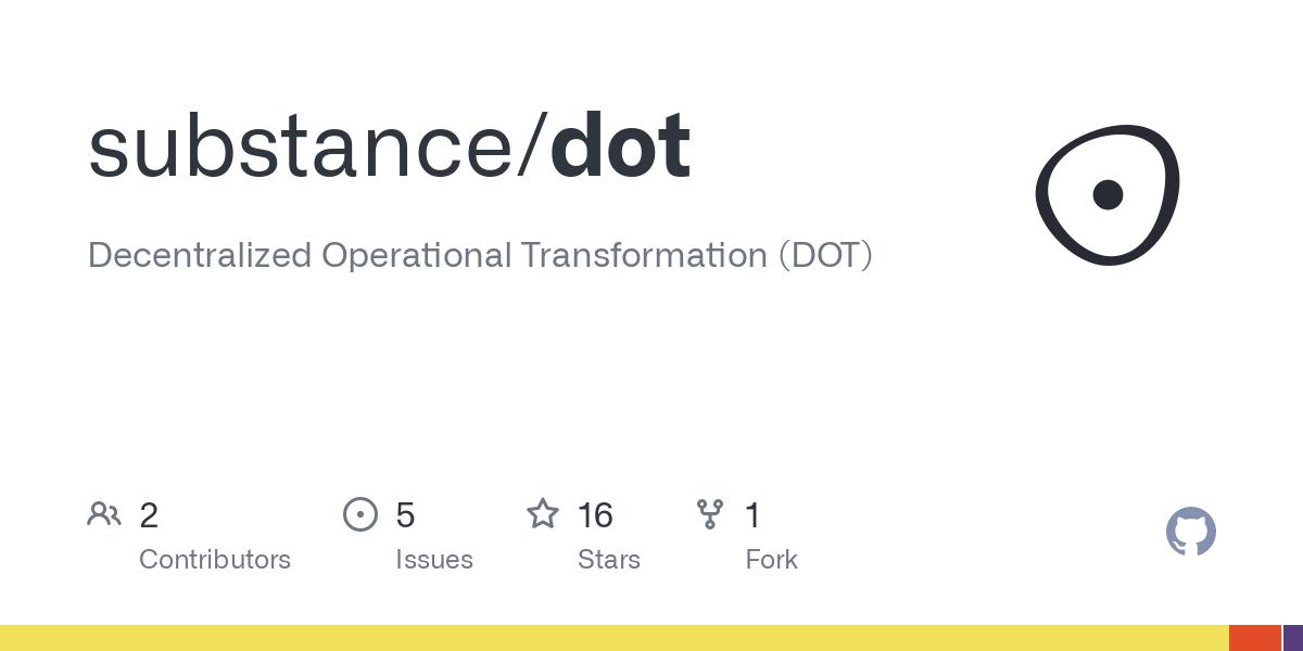 GitHub - substance/dot: Decentralized Operational Transformation (DOT)