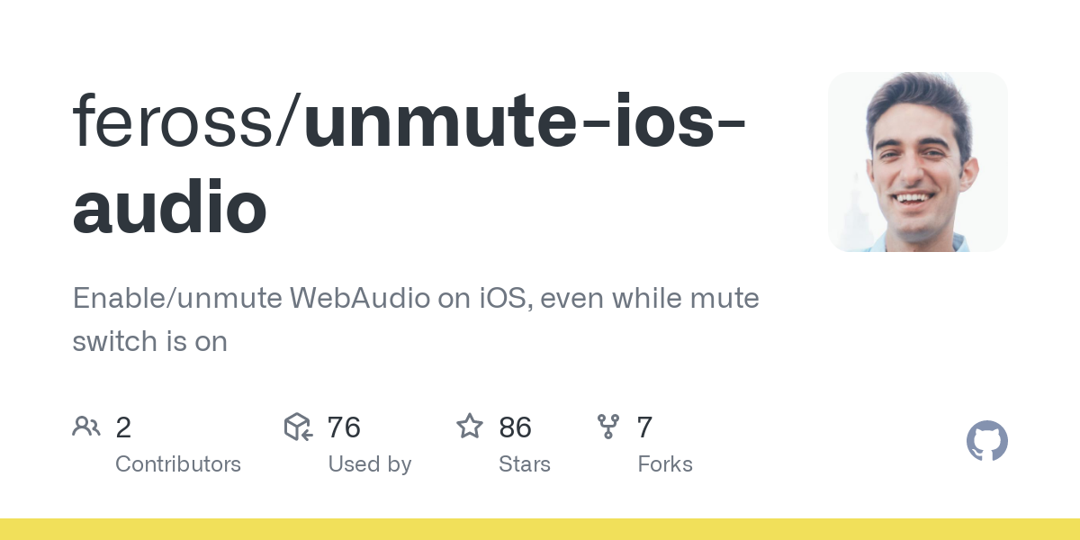 Enable/unmute WebAudio on iOS, even while mute switch is on