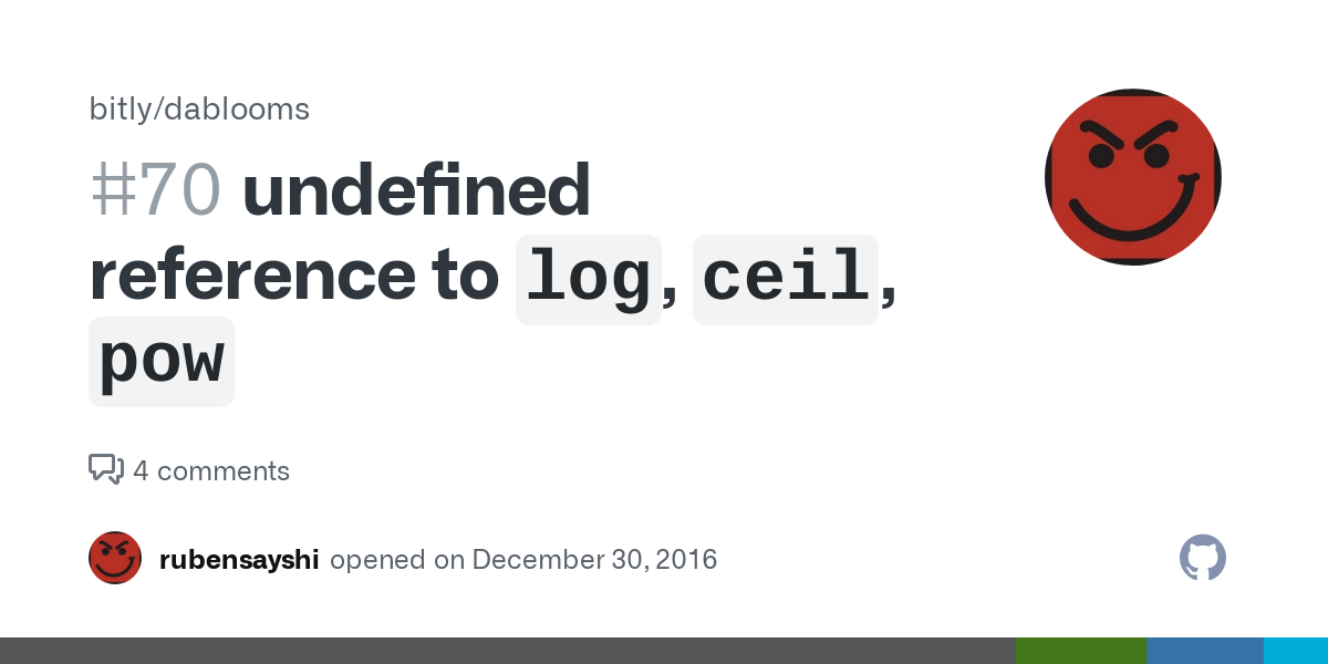 Undefined Reference To Ceil