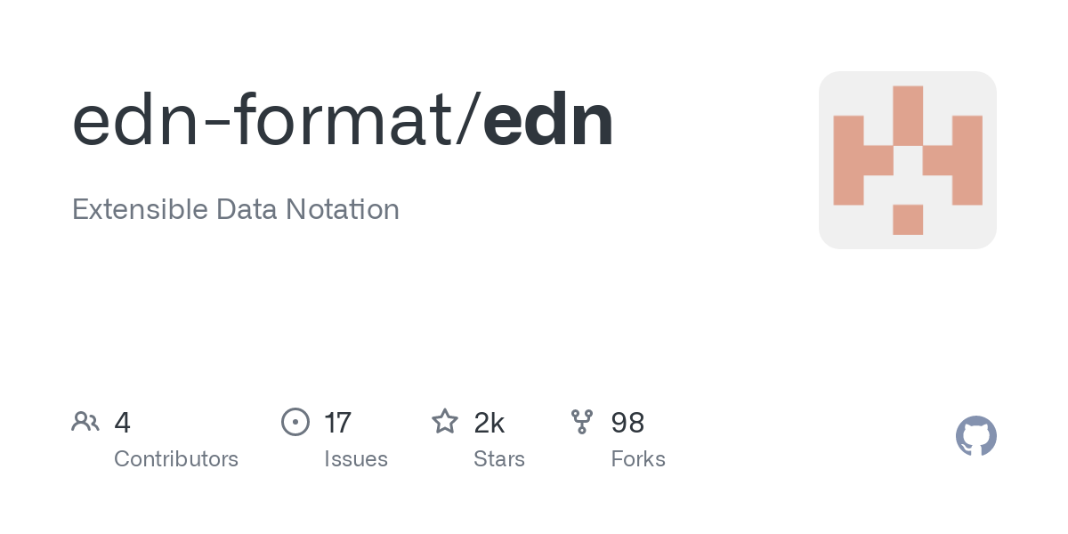 edn is an extensible data notation. A superset of edn is used by Clojure to represent programs, and it is used by Datomic and other applications as a