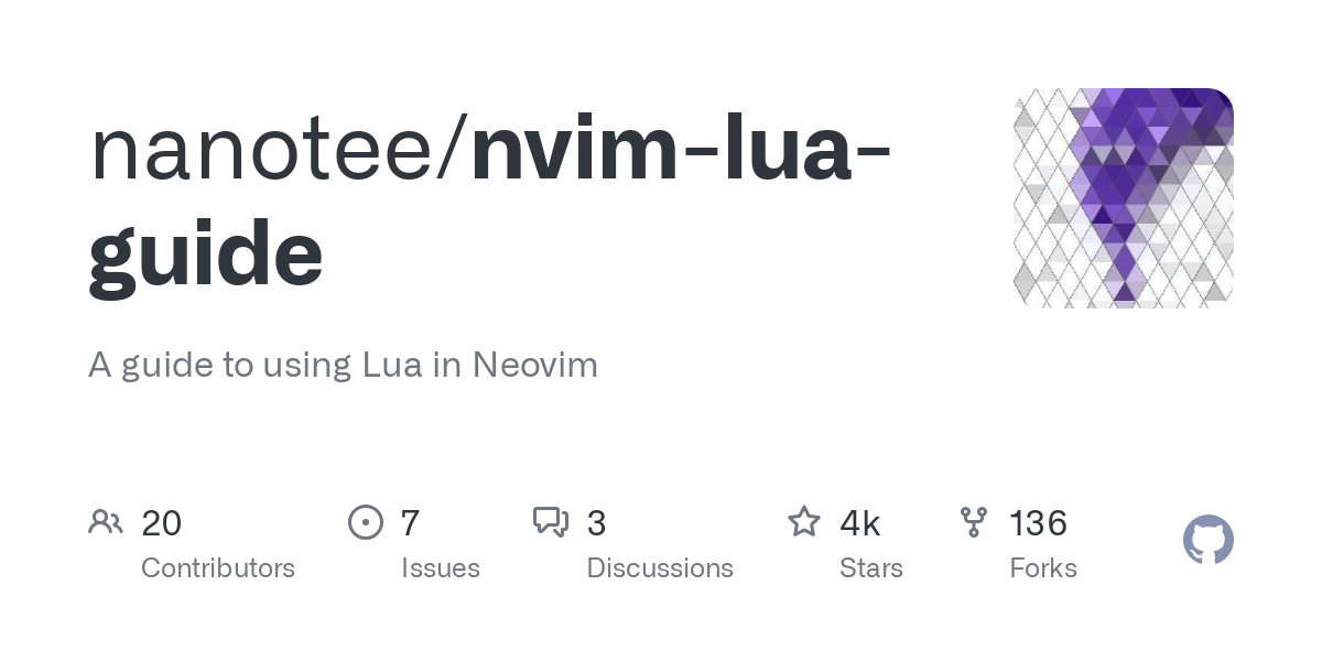 The integration of Lua as a first-class language inside Neovim is shaping up to be one of its killer features. However, the amount of teaching materia