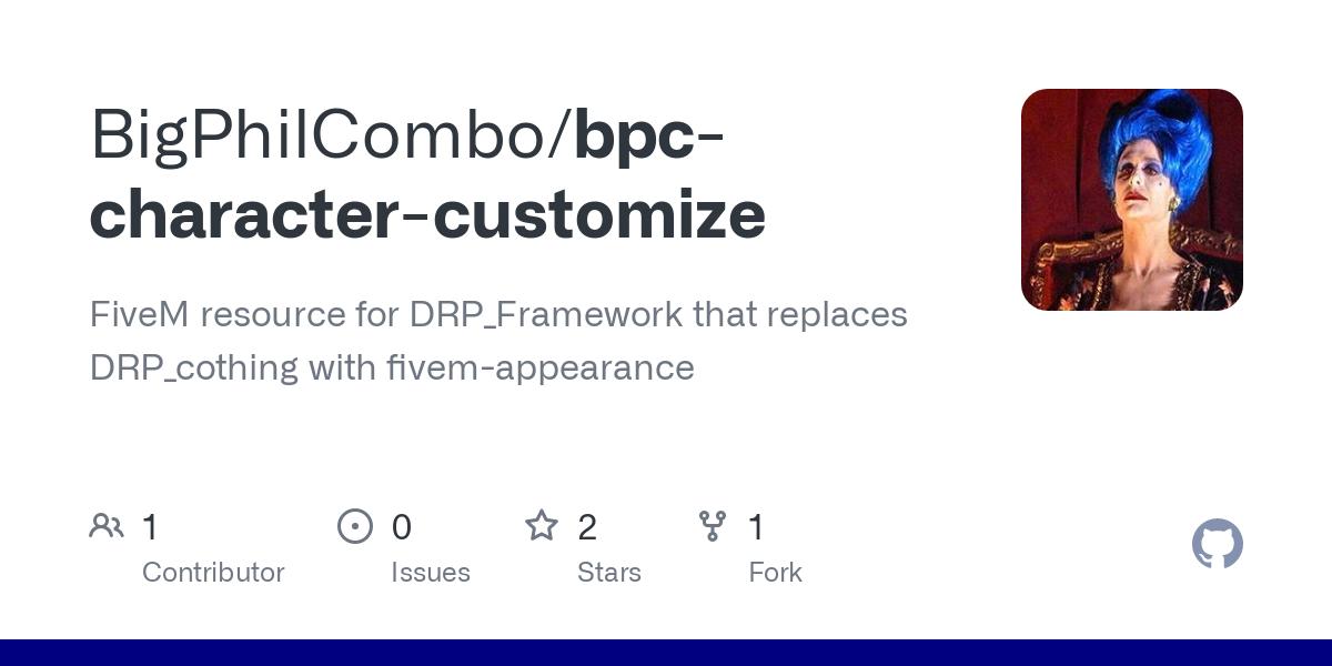 bpc character customize