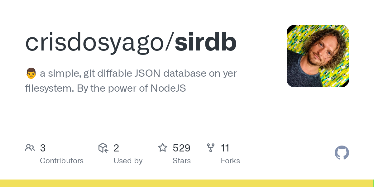 Like SirDB? You'll probably love ServeData! ServeData is a powerful yet simple server for SirDB with baked-in schemas, users, groups, permissions, aut