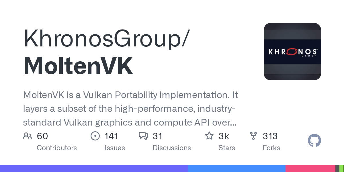 The Vulkan SDK includes a  MoltenVK runtime library for macOS. Vulkan is a layered architecture that allows applications to add additional functionali