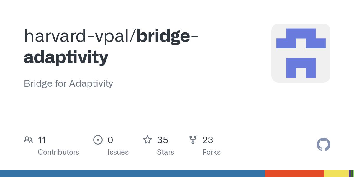 GitHub - harvard-vpal/bridge-adaptivity: Bridge for Adaptivity