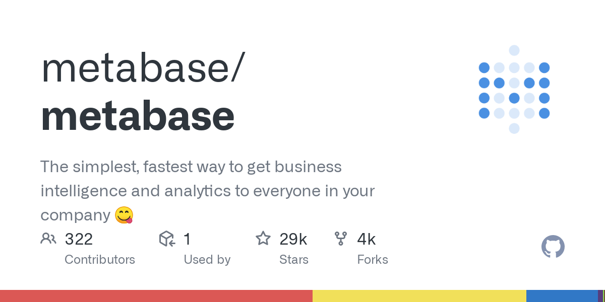 GitHub - metabase/metabase: The simplest, fastest way to get business intelligence and analytics  to everyone in your company