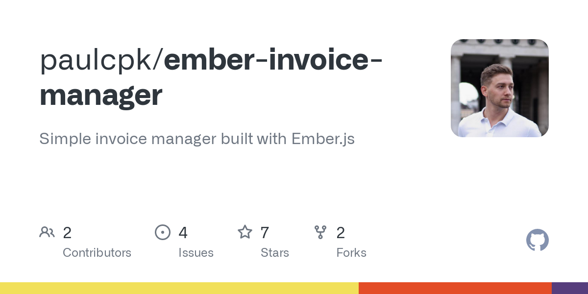 Github Paulcpk Ember Invoice Manager Simple Invoice Manager Built With Ember Js