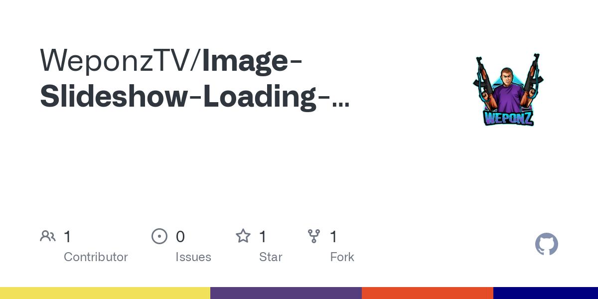 Image Slideshow Loading Screen