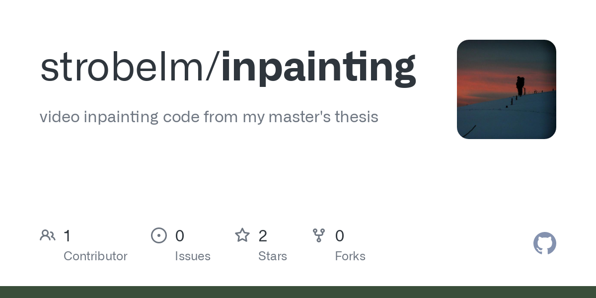 inpainting thesis