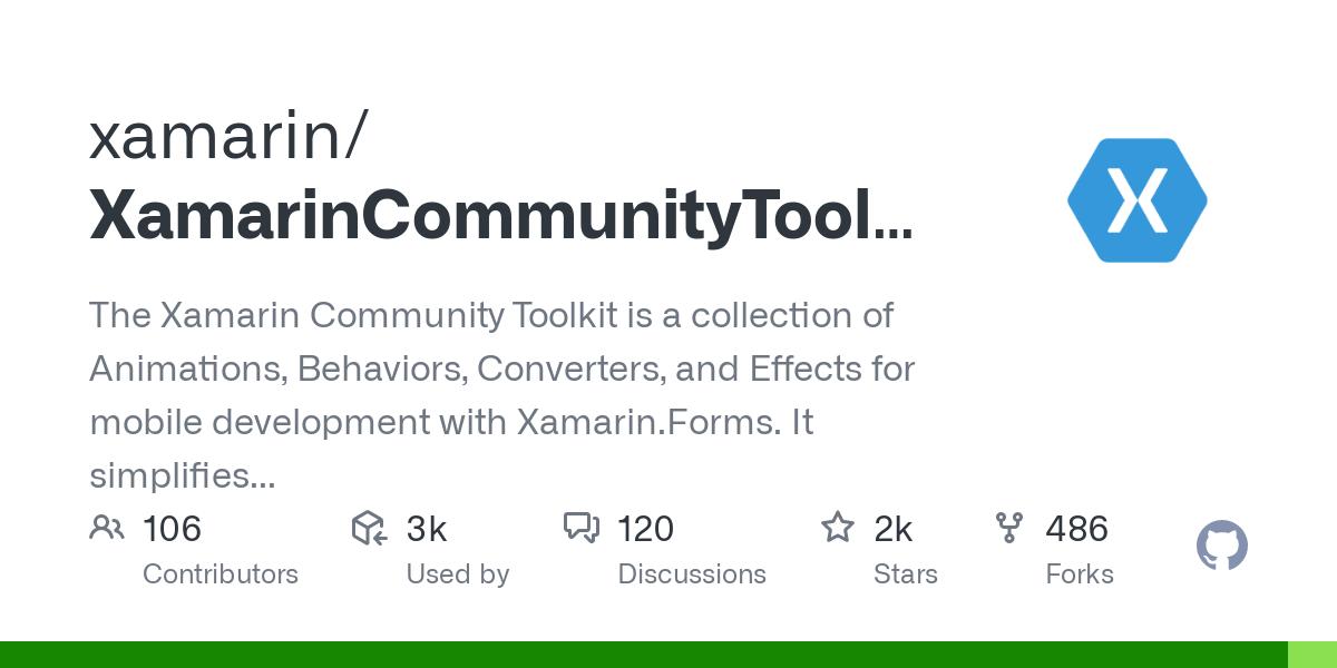 xamarin/XamarinCommunityToolkit