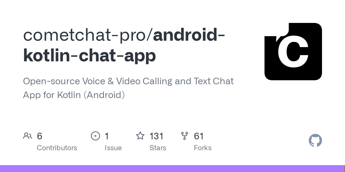 GitHub - cometchat-pro/android-kotlin-chat-app: Open