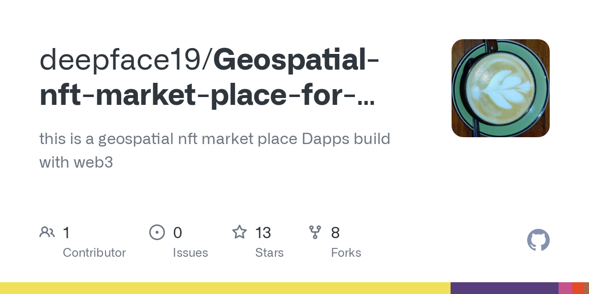 GitHub - deepface19/Geospatial-nft-market-place-for-harmony-one-world: this is a geospatial nft market place Dapps build with web3